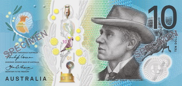The new generation $10 banknote - signature side.